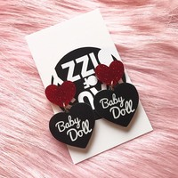 BABY DOLL EARRINGS - RED