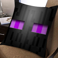 """Enderman perhaps minecraft game pillow ---- pillow one and two side by  """"galaxyplatinum"""","""