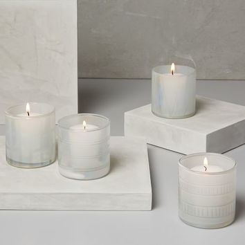 Etched Luster Glass Votives (Set of 6)