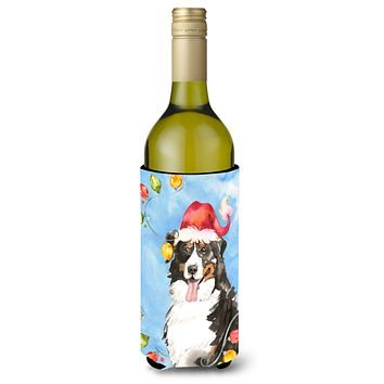 Christmas Lights Bernese Mountain Dog Wine Bottle Beverage Insulator Hugger CK2469LITERK