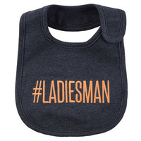 Ladies Man Teething Bib