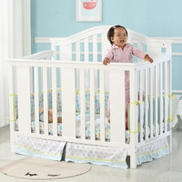 Solid Wood Lacquered Baby Crib