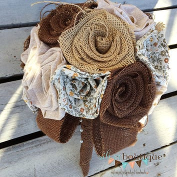 Burlap Bouquet, Wedding Bouquet, Fall Bouquet, Wedding, Brown, Bride, Rustic Wedding, Groom Country Wedding, Burlap Bouquet Wrap, Favor