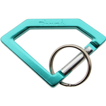Diamond Supply Co Carabiner Rock Keychain (Tiffany Blue)