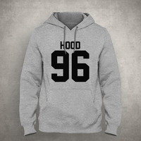 Hood 96 - For fangirl & fanboy - Gray/White Unisex Hoodie - HOODIE-072