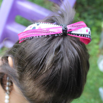 Dress up any outfit with Any Color Ponytail Ready Hair bow. Perfect for any age.