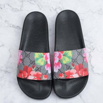 Floral BALENCIAGA Slippers Casual Running Sport Summer Wear