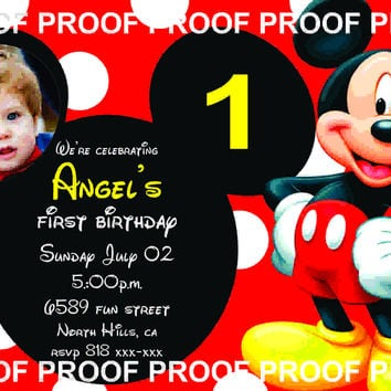 Mickey Mouse Invitation | Mickey Mouse Birthday Invitation | Mickey Invitation | Mickey Mouse Printable | Turnaround Time 12-24 hr