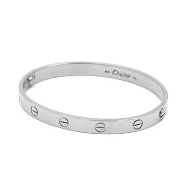 Auth CARTIER Love Breath Women K18 white gold bracelet