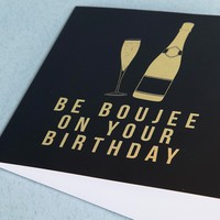 Central 23 Exclusive Boujee On Your Birthday Gold Foil Card at asos.com