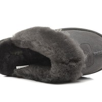 UGG Women Men Slipper Casua Wool Fur Shoes-6