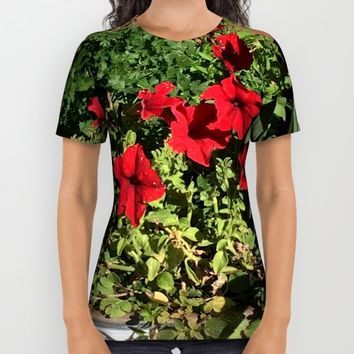 Something in Red All Over Print Shirt by Jessica Ivy