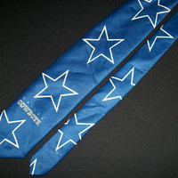 Vintage Dallas Cowboys Tie NFL Team Ralph Marlin RM Sports Football Super Bowl Champions Collection Football Necktie 100% Polyester Mens