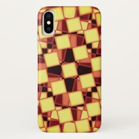 Red and yellow checkered pattern Case-Mate iPhone case