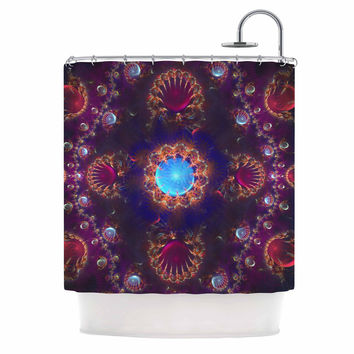 "Cvetelina Todorova ""Royal Jewels"" Purple Blue Shower Curtain"