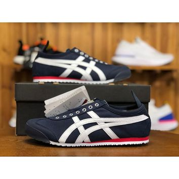 jisww Authentic ASICS Onitsuka Tiger MEXICO 66 SLP-ON casual