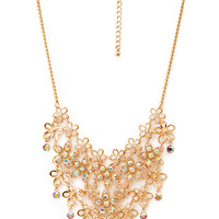 FOREVER 21 Dazzling Daisy Bib Necklace Gold/Multi One