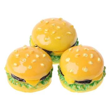 1:12 scale Hamburger DIY Craft Miniature Food Dollhouse Accessory Decoration kitchen living room