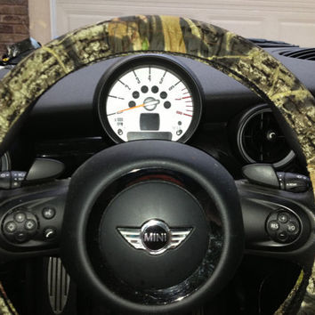 Camouflage Steering Wheel Cover Mossy Oak Camo Hunter Cover