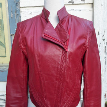 1980's Wilson Red Leather Jacket
