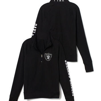 Oakland Raiders Athletic Half-Zip Pullover