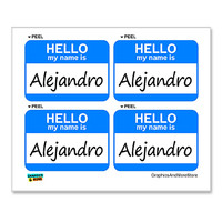 Alejandro Hello My Name Is - Sheet of 4 Stickers