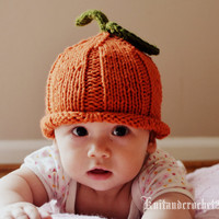 Pumpkin Knit Hat, Custom Size