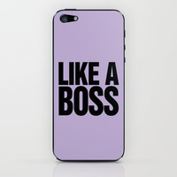 Like a Boss Lilac iPhone & iPod Skin by Rex Lambo | Society6