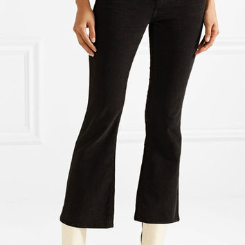 M.i.h Jeans - Marty cropped stretch-cotton corduroy flared pants
