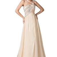 Dressystar Women's Long Party Gown Chiffon Dress