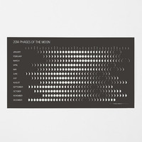 Phases Of The Moon 2014 Wall Calendar
