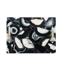 Small Decorative Tray in Black Banded Agate | Kendra Scott