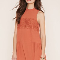 Contemporary Lace-Panel Dress   LOVE21 - 2000169900