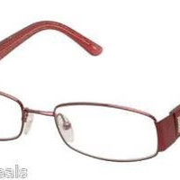 NEW AUTHENTIC FENDI F878 COL 618 SHINY RED METAL EYEGLASSES FRAME FENDI 878