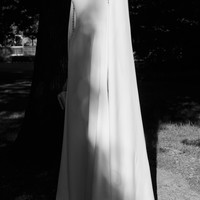 Crystal Cape Silk Gown | Moda Operandi