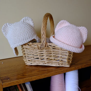 Baby Boy or Baby Girl Hat Animal Baby Hat Newborn Infant 0-3 Months Photography Props Crochet Cotton Baby Hats Twins Baby Girl and Baby Boy