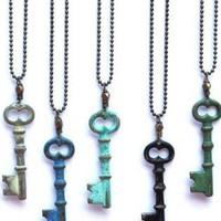 Pendant - Skeleton Key Necklace | UsTrendy