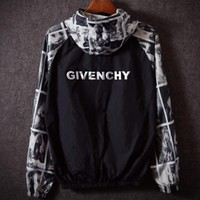 Givenchy Trending Women Men Casual Print Lover Sports Coat Windbreaker Jacket I
