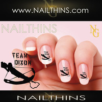 Team Dixon Crossbow Walking Zombie Dead NAILTHINS Nail Decal Nail Art  Nail Design