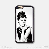 Smoking Audrey Hepburn Free Shipping iPhone 6 6 Plus case iPhone 5s case iPhone 5C case 054