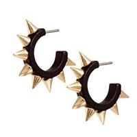 River Island Tiny Half Spike Hoop Earrings at asos.com