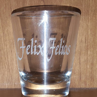 Laser Engraved Harry Potter Inspired Felix Felicis Shot Glass~ Liquid Luck