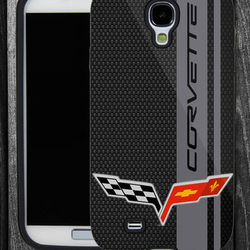 Corvette on Carbon Fiber-IPhone 5 case,IPhone 4,4S,Samsung Galaxy S2 i9100,Samsung S3 i9300,Samsung S4 i9500-B-2062013-7