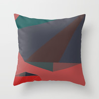 Shape Play 2 Throw Pillow by duckyb
