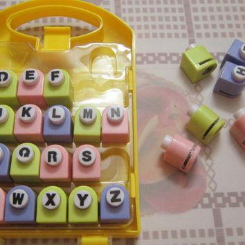 26 English letter / alphabet craft hole punch set ,  alphabet paper punch , dozen flower implement , paper cutter