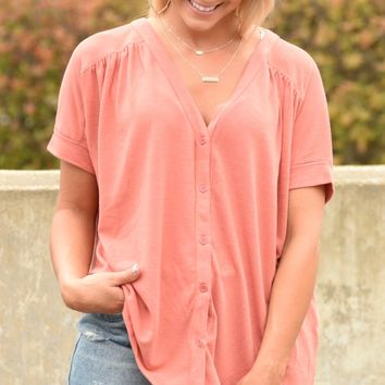 In It For Love Top - Dark Coral