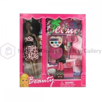 Black Fashion Doll With Dress And Accessories OC747