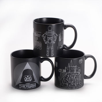 Limit Product Star Wars Ceramic Coffee Mug Black Knight Tea Drinkware Large Capacity Mark