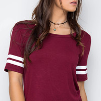 Elliot Top - Burgundy