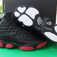 Air Jordan retro 13 bred gym red basketball shoes sneakers